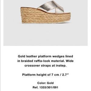 Zara leather wedges 😍size 8 Like new